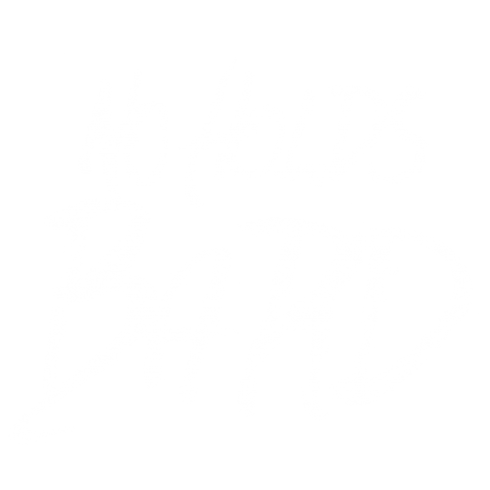 No Holds Bard white logotype, illustrated by Dave Kloc